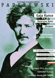 2011, Gaja Kunce plays Paderewski-2011